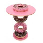 Tisch mit Donutständer Rosa und Donut