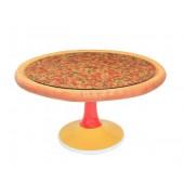 Pizzatisch auf Ständer mit Glasplatte