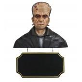Monster Frankenstein Büste mit Angebotsschild