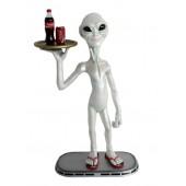 Alien Butler mit Tablett oben