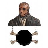 Monster Jason Voorhees Büste mit Angebotsschild Knochen
