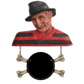 Monster Freddy Krüger Büste mit Angebotsschild Knochen