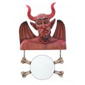Teufel Spiegel mit Knochen