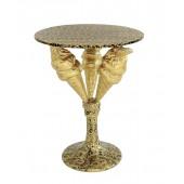Tisch mit 3 Eistüten auf Ständer Gold