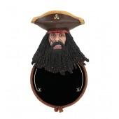 Pirat Blackbeard Angebotsschild Rund für Wand