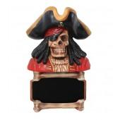 Knochen Angebotsschild mit Piratenskelett