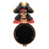 Piratenskelett Angebotsschild Rund für für Wand