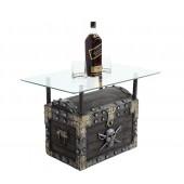 Piraten Schatztruhe Dunkel Tisch mit Glasplatte