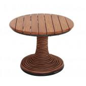 Tisch Holz mit Seilen