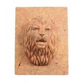 Sandstein Löwenkopf auf für Wand mit Fontänenoption