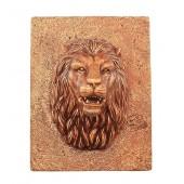 Goldener Löwenkopf auf für Wand mit Fontänenoption