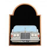 Angebotstafel mit Rolls Royce Silber