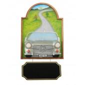 Bild mit Mercedes Benz Silber und Angebotsschild