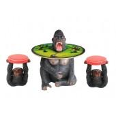 Gorillatisch mit Affenhockern