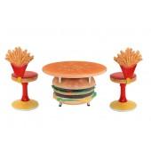 Burgertisch und Pommesstühle
