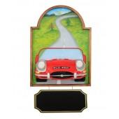 Bild mit Jaguar Rot und Angebotsschild