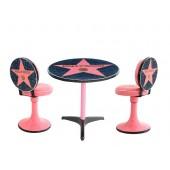 Hollywoodtisch mit Stühlen