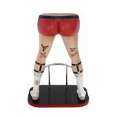Männerbeine mit roten Boxershorts Barhocker