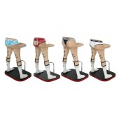 Barhocker Männerbeine mit Unterwäsche (4 Stück)