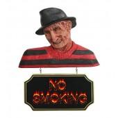 Monster Freddy Krüger Büste mit *No Smoking*Schild