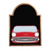 Angebotstafel mit Chevy Rot