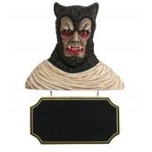 Werwolf Büste mit Angebotsschild