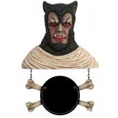 Werwolf Büste mit Angebotsschild Knochen