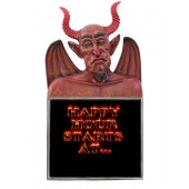 Teufel Büste Happy Hour Angbotstafel