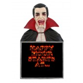 Dracula Büste Happy Hour Angebotstafel