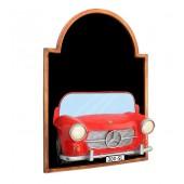 Angebotstafel mit Mercedes Benz Rot