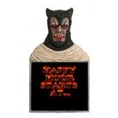 Werwolf Büste Happy Hour Angebotstafel