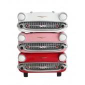 Wanddeko Chevy Rot, Rosa und Weiß