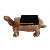 Schildkröte Gold Hocker mit schwarzem Polster