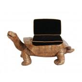 Schildkröte Gold Sitz mit schwarzem Polster