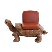 Schildkröte Gold Sitz mit braunem Polster