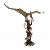 Dinosaurier Pteranodon kämpft mit Python auf Baum