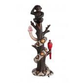 BabyOrangutan und Papagei mit Python auf Baum