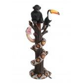 BabyAffe und Tukan mit Python auf Baum