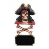 Piratenskelett mit Knochen und Angebotsschild