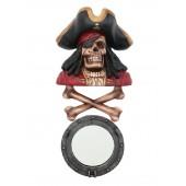 Piratenskelett mit Knochen und Spiegel