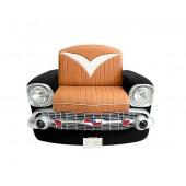 Sitz Chevy Front Schwarz mit braunem Polster