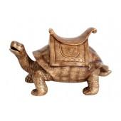 Schildkröte Gold mit Sattel