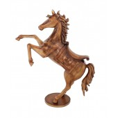Karussell Pferd mit Sattel Antikgold