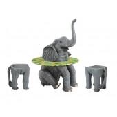 Elefantentisch mit Hockern