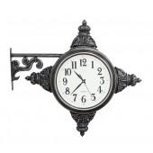 Vintage Uhr für für Wand Silber seitlich