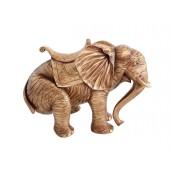 Elefant Gold mit Sattel