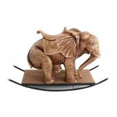 Elefant Gold mit Sattel Schaukel