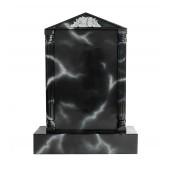 Grabstein mit schwarzem Marmoreffekt 5