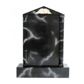 Grabstein mit schwarzem Marmoreffekt 7