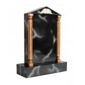 Grabstein mit schwarzem Marmoreffekt 8